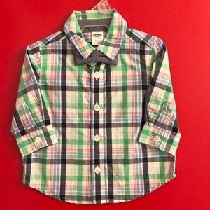 Old Navy Button Down Shirt with Tie